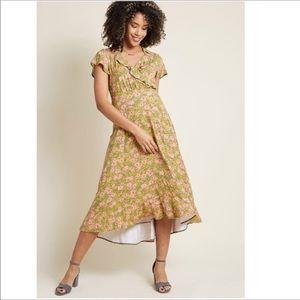 ModCloth | Floral Ruffle Midi Dress